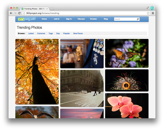 Trending Photos Page