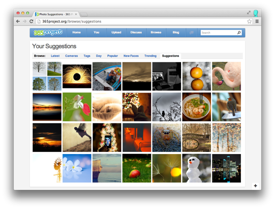 Suggestions Photos Page